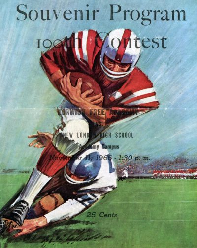 Souvenir program from the 100th anniversary game between Norwich Free Academy and New London High School (Courtesy Nicholas Bolt/NFA)