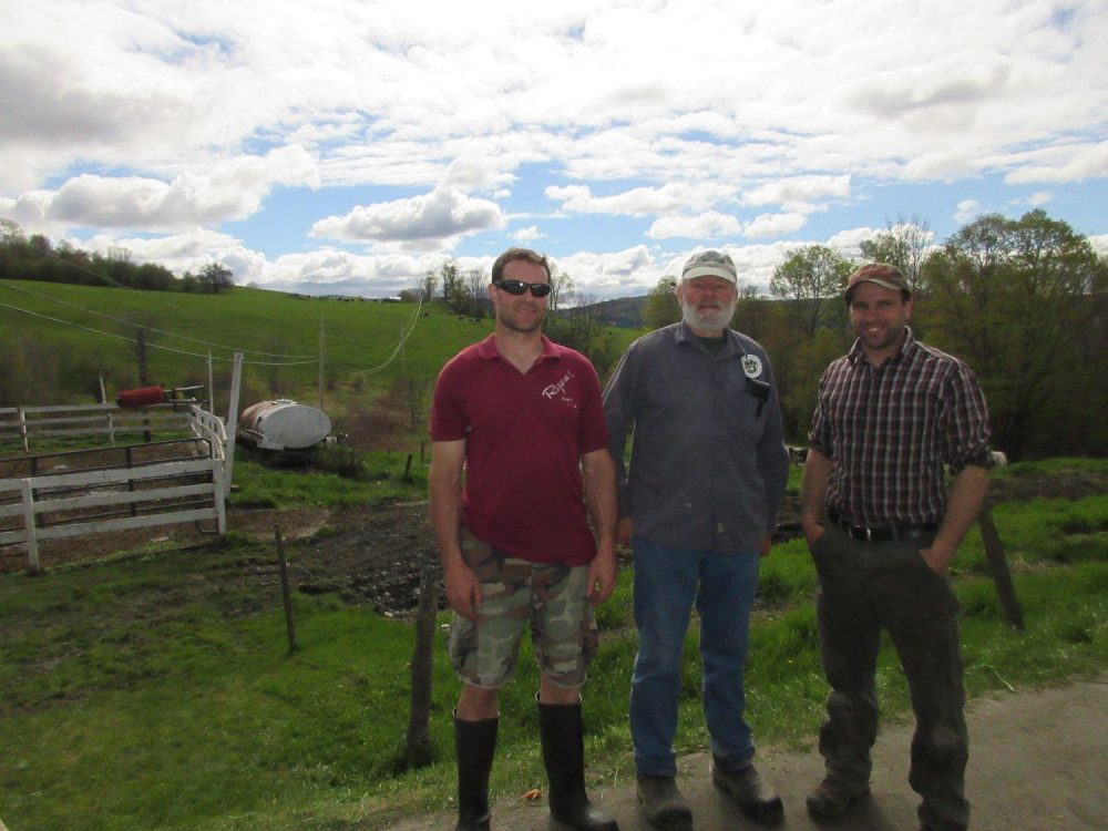 John Silloway, David Silloway and Paul Lambert all have a hand in running their family's farm. (Courtesy Silloway Farms)