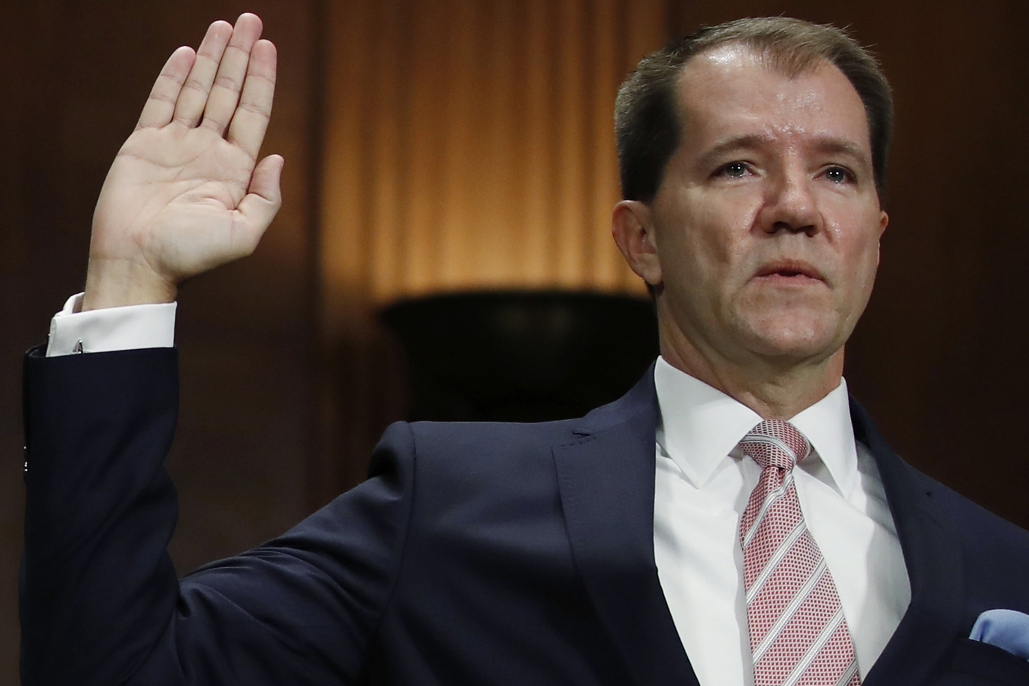 Donald Trump appointee Don Willett is sworn in during a Senate Judiciary Committee hearing on nominations on Capitol Hill in Washington, Wednesday, Nov. 15. (Carolyn Kaster/AP)