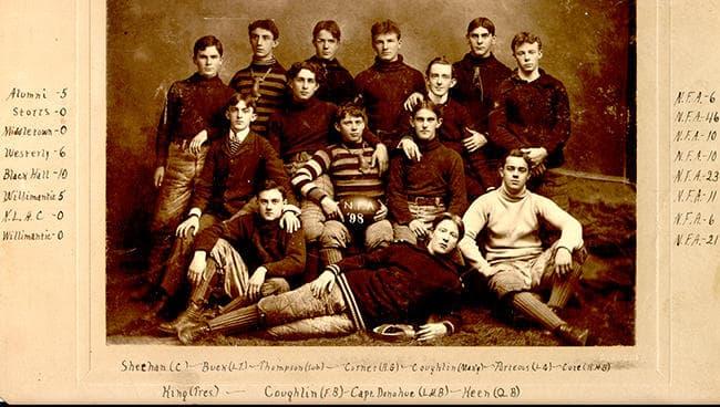 The 1898 Norwich Free Academy football team (Courtesy Nicholas Bolt/NFA)