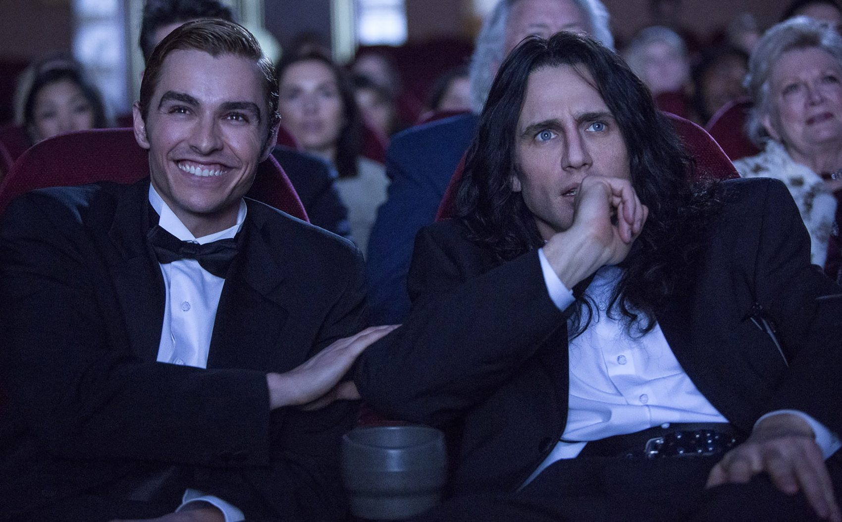 "Dave and James Franco in ""The Disaster Artist.""  (Courtesy Justina Mintz/A24)"