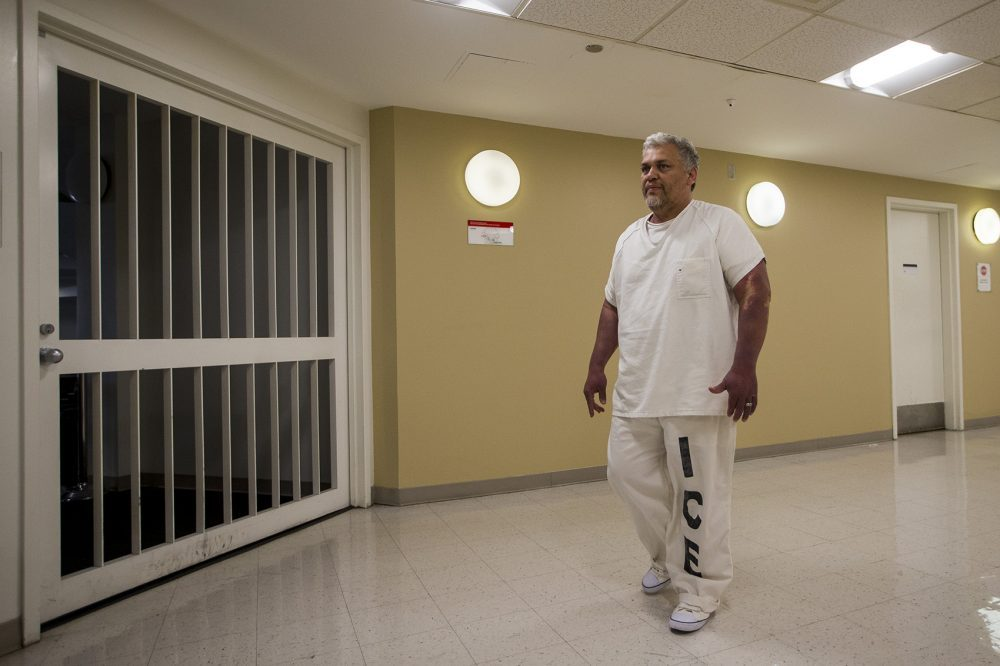 Francisco Rodriguez in ICE custody at the Suffolk County House of Corrections (Jesse Costa/WBUR)