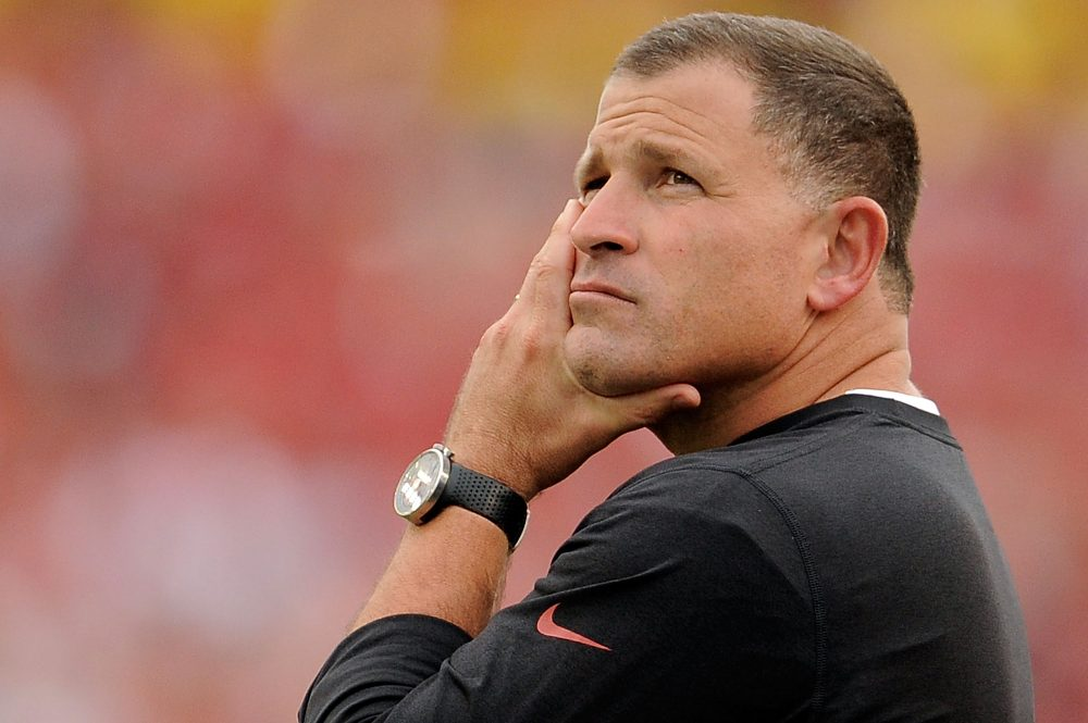 Greg Schiano was reportedly slated to become the next Tennessee football coach, prompting a wave of backlash. (Stacy Revere/Getty Images)