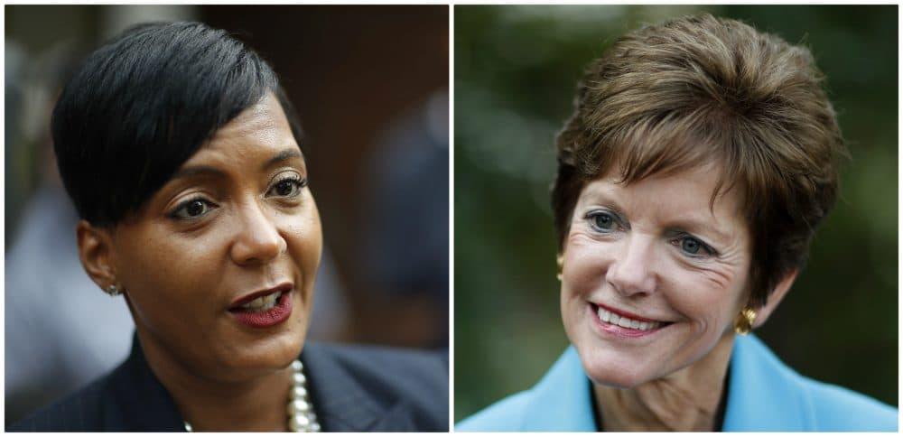 Atlanta city councilwoman and mayoral candidate Keisha Lance Bottoms (left) and Atlanta city councilwoman and mayoral candidate Mary Norwood (right). (AP Photos)