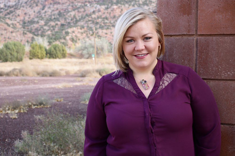 Elissa Wall wrote a book about her time in the FLDS church and her arranged marriage when she was just 14 years old. Despite her experiences as part of the church, she moved back to Short Creek and also has her own business based there. (Jackie Hai/KJZZ)