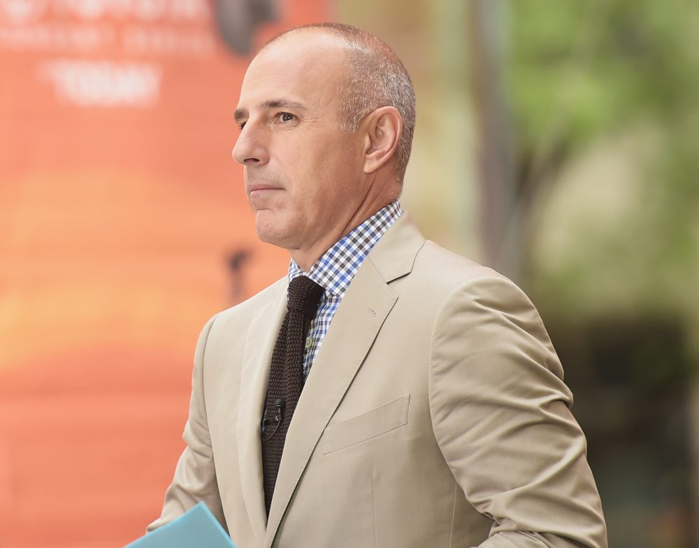 """Former co-host Matt Lauer appears on NBC's """"Today"""" on Aug. 22, 2014 in New York. (Michael Loccisano/Getty Images)"""