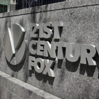 This Aug. 1, 2017, photo shows the 21st Century Fox sign outside of the News Corporation headquarters building in New York. (Richard Drew/AP)