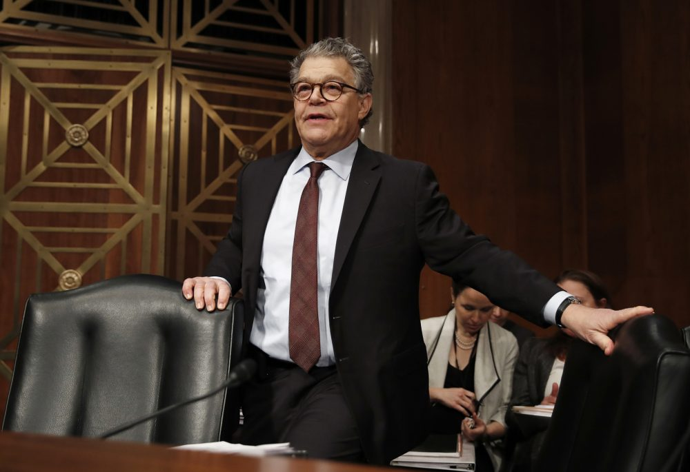 In this Nov. 29, 2017 photo, Senate Health, Education, Labor and Pensions Committee member Sen. Al Franken, D-Minn., arrives at a Senate Health, Education, Labor and Pensions Committee hearing on Capitol Hill in Washington. (Carolyn Kaster/AP)