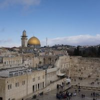 A view of the Western Wall and the golden Dome of the Rock Islamic shrine on Dec. 6, 2017 in Jerusalem, Israel. (Lior Mizrahi/Getty Images)