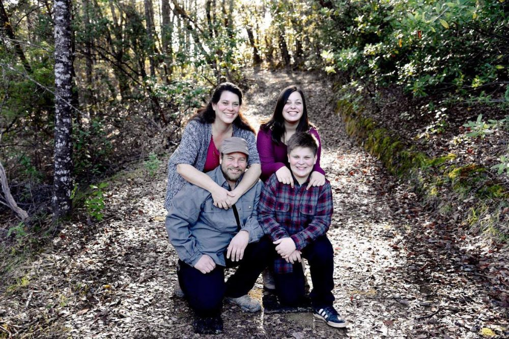 The Shepherd family of Redwood Valley, Calif., was caught in the devastating Northern California wildfires in October. Pictured clockwise from left to right: Sara Shepherd, Kressa Shepherd, Jon Shepherd and Kai Shepherd. (Courtesy of Mindi Ramos)