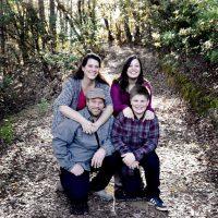 The Shepherd family of Redwood Valley, Calif., was caught in the devastating Northern California wildfires in October. Pictured clockwise from left to right: Sara Shepherd, Kressa Shepherd, Jon Shepherd and Kai Shepherd. (Courtesy of Mindi Ramos)