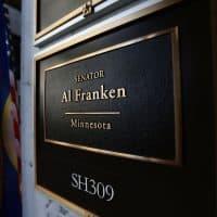 The sign of U.S. Sen. Al Franken's office is seen on Capitol Hill Dec. 7, 2017 in Washington, D.C. (Alex Wong/Getty Images)