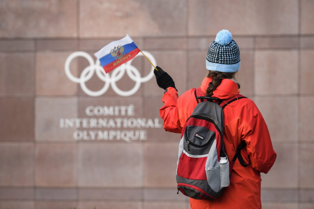 The International Olympic Committee has banned Russia from participating in the 2018 Olympics. (Fabrice Coffrini/AFP/Getty Images)
