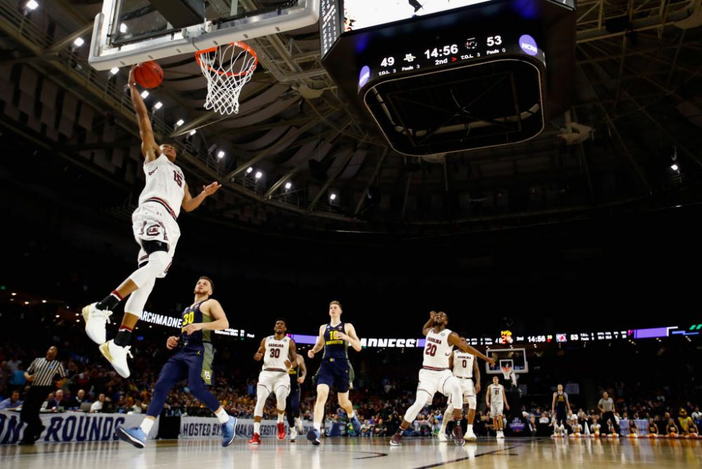 Will college basketball and other sports be fair game for gambling outside of Nevada? (Kevin C. Cox/Getty Images)