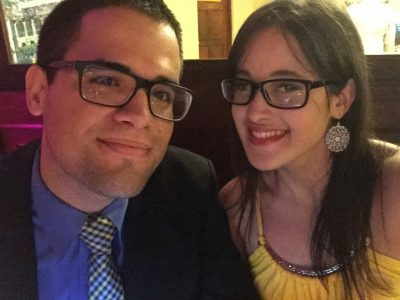 Yanira Mendoza with her fiance Pedro. (Courtesy of Doris Rivera)