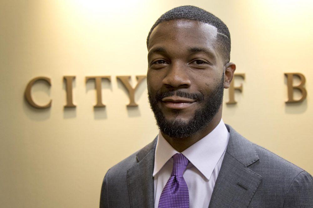 Randall Woodfin, mayor of Birmingham, Ala. (Jackson Mitchell/Here & Now)