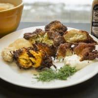 Three takes on latkes, from chef Kathy Gunst. (Robin Lubbock/WBUR)