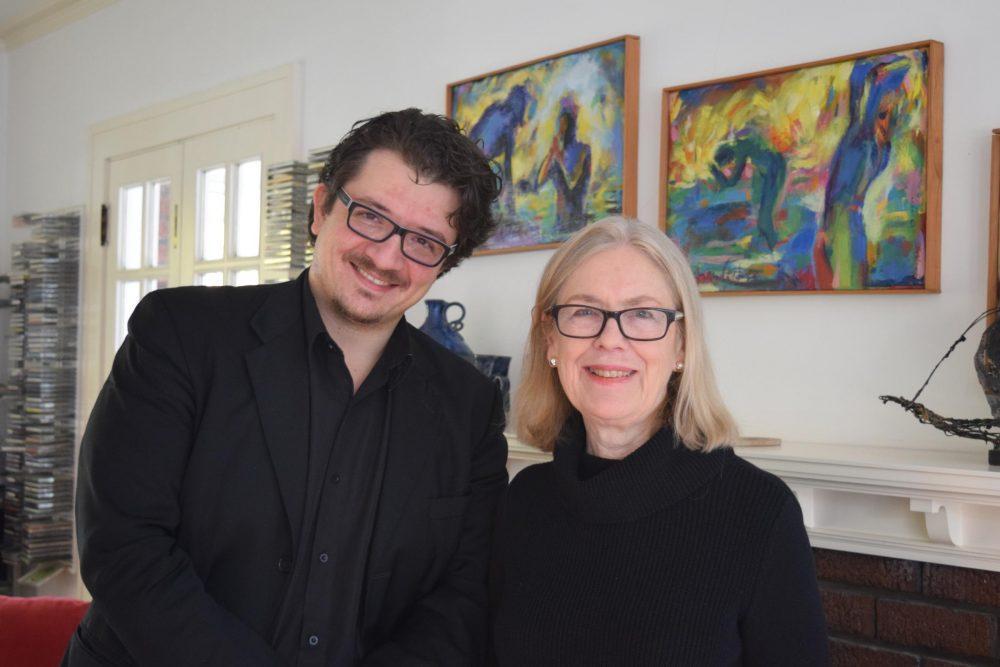 Domenico Boyagian (left) and Margaret Brouwer, conductor and composer for Voice of the Lake. (Elizabeth Miller/Great Lakes Today)