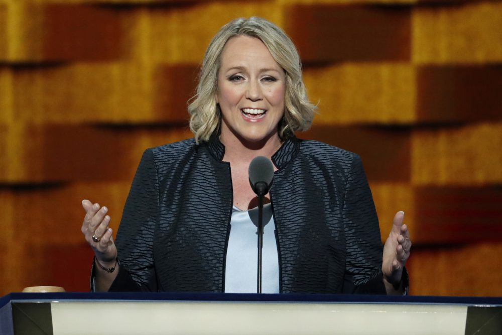 Emily's List President Stephanie Schriock speaks during the third day of the Democratic National Convention in Philadelphia, Wednesday, July 27, 2016. (J. Scott Applewhite/AP)
