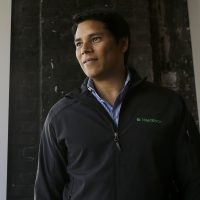 Nextdoor CEO Nirav Tolia poses for photos at his office in San Francisco, Wednesday, May 11, 2016. (Jeff Chiu/AP)
