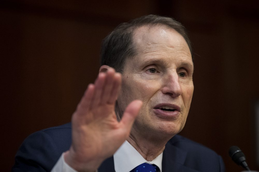 Sen. Ron Wyden (D-Ore.) speaks during a meeting about the GOP tax plan on Capitol Hill, Nov. 1, 2017 in Washington, D.C. (Drew Angerer/Getty Images)