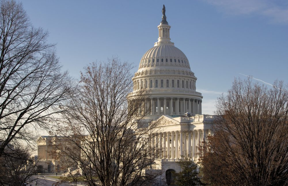 The Capitol is seen in Washington, Monday, Dec. 18, 2017, as Congress returns to face action on the GOP tax bill and funding the government before the end of the week. (J. Scott Applewhite/AP)