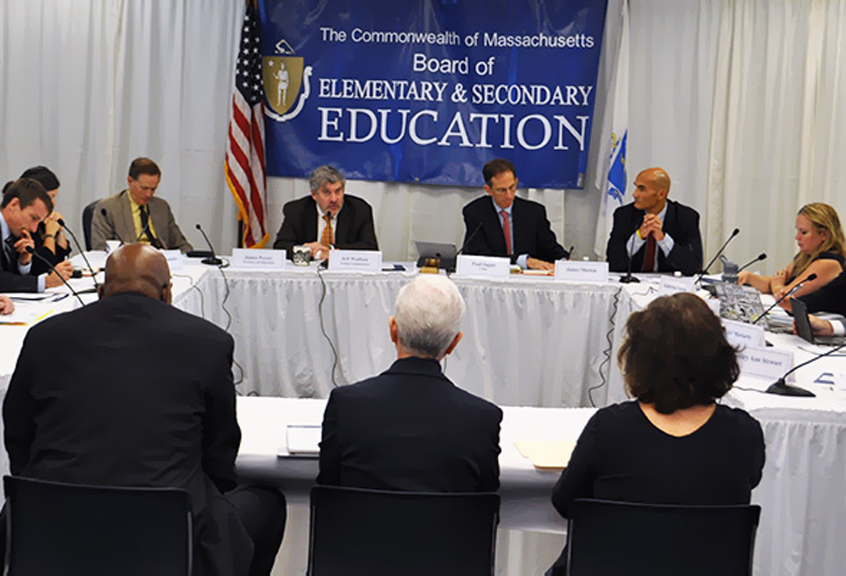 Members of the Massachusetts Board of Elementary and Secondary Education. (Courtesy of the department)