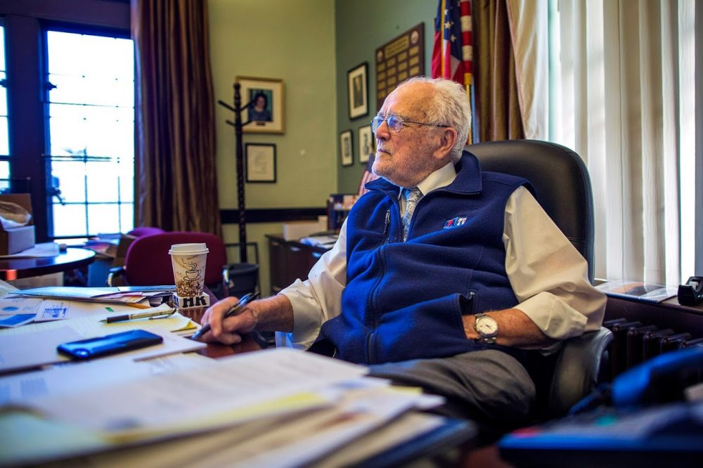 The 89-year-old was the longest-serving public official in Norwood. (Jesse Costa/WBUR)