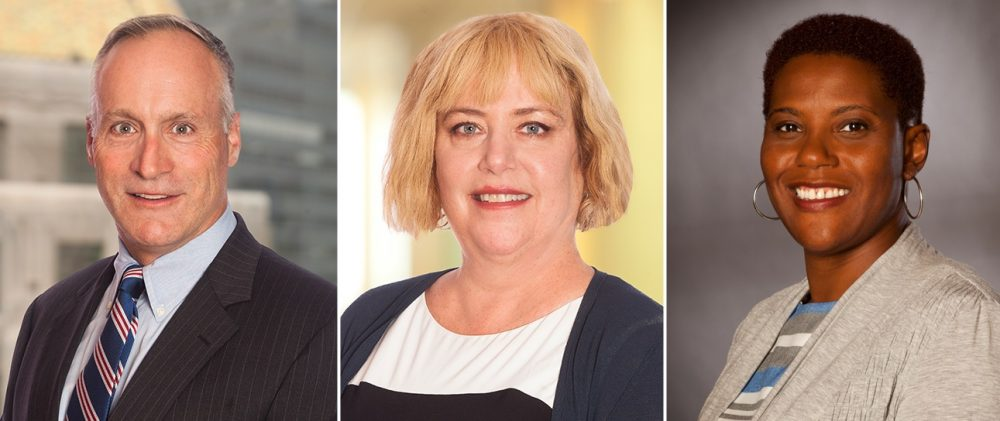 Attorneys Anthony Fuller, Jody Newman, and Natashia Tidwell of Hogan Lovells will take the lead in the Senate Ethics Committee special investigation of Sen. Stanley Rosenberg. (Hogan Lovells/Courtesy)