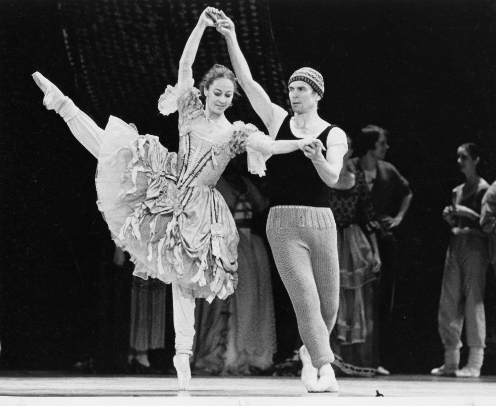 Laura Young and Rudolf Nureyev rehearsing in Atlanta in 1982. (Courtesy Bill Young)