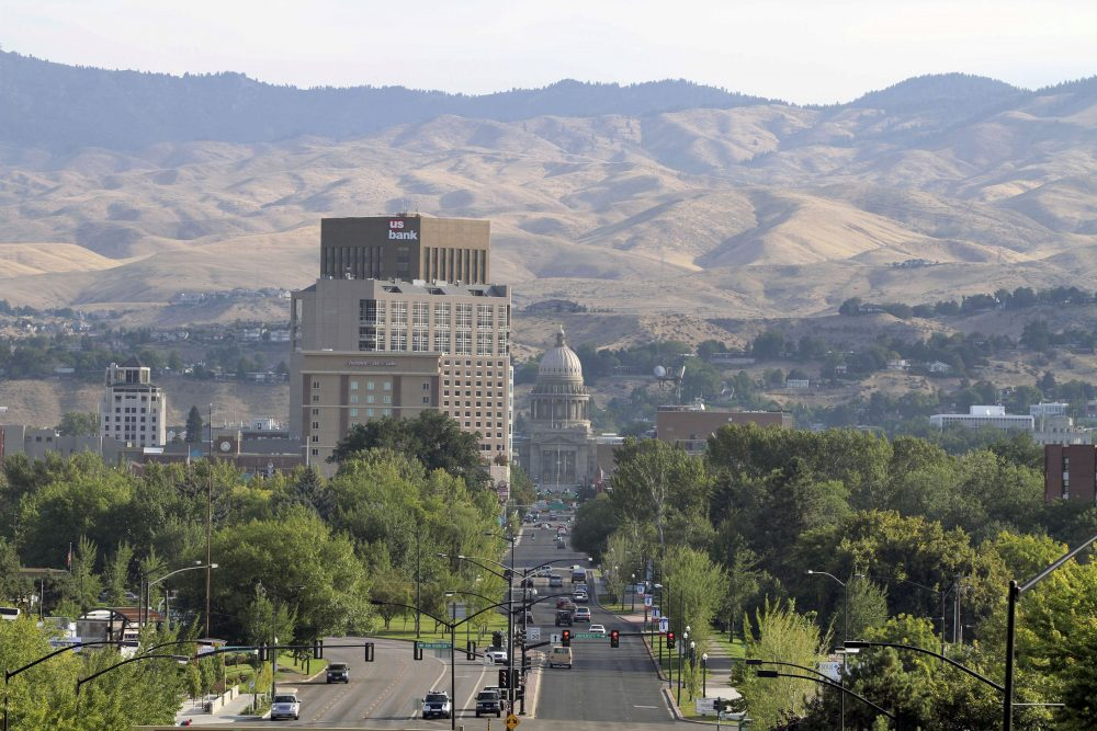 In this photo taken Tuesday, Sept. 14, 2010, traffic travels into downtown Boise, Idaho. (Charlie Litchfield/AP)