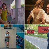 """Scenes from """"The Florida Project,"""" """"Phantom Thread,"""" """"Lady Bird"""" and """"Three Billboards Outside Ebbing, Missouri."""" (Courtesy A24, Focus Feautres, Fox Searchlight Pictures)"""