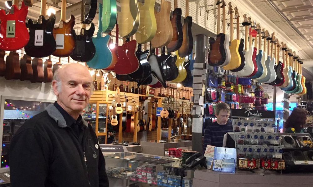 Joe Blumenthal, owner of Downtown Sounds in Northampton, Massachusetts. (Karen Brown/NEPR)