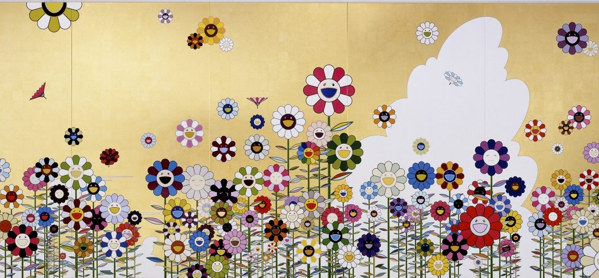 """Takashi Murakami's """"Kawaii Vacances (Summer Vacation in the Kingdom of the Golden),"""" created in 2008. (Courtesy Takashi Murakami, Kaikai Kiki Co./Museum of Fine Arts, Boston)"""