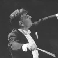 Leonard Bernstein leads the New York Philharmonic Orchestra on Sept. 24, 1962. (AP)