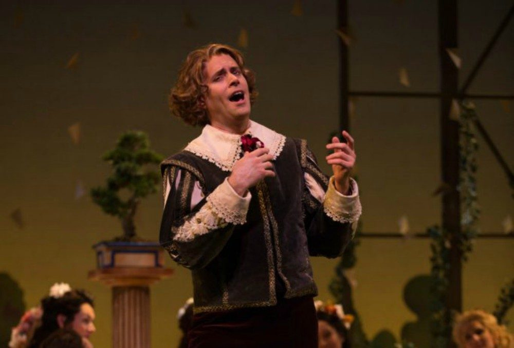 "Paul Max Tipton in Odyssey Opera's production of ""Patience; or, Bunthorne's Bride."" (Courtesy Kathy Wittman/Ball Square Films)"