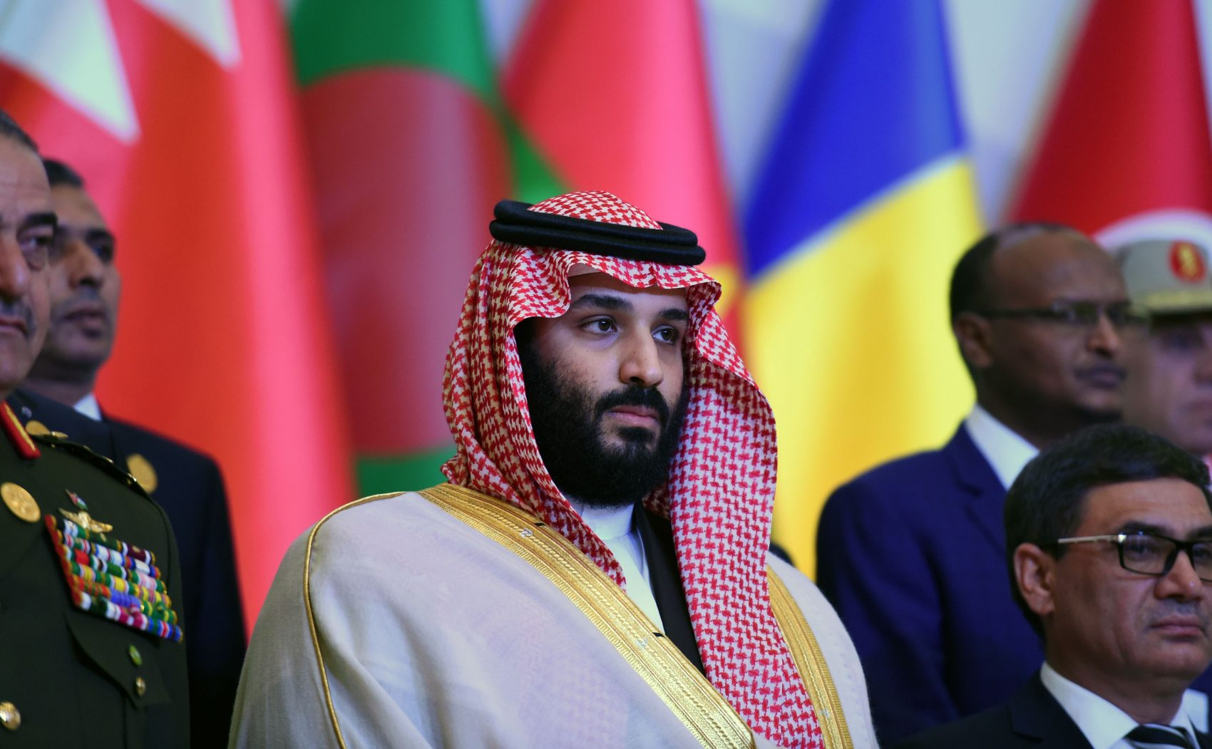 Saudi Crown Prince and Defense Minister Mohammed bin Salman arrives to attend the first meeting of the defense ministers and officials of the 41-member Saudi-led Muslim counterterrorism alliance in the capital Riyadh on Nov. 26, 2017. (Fayez Nureldine/AFP/Getty Images)
