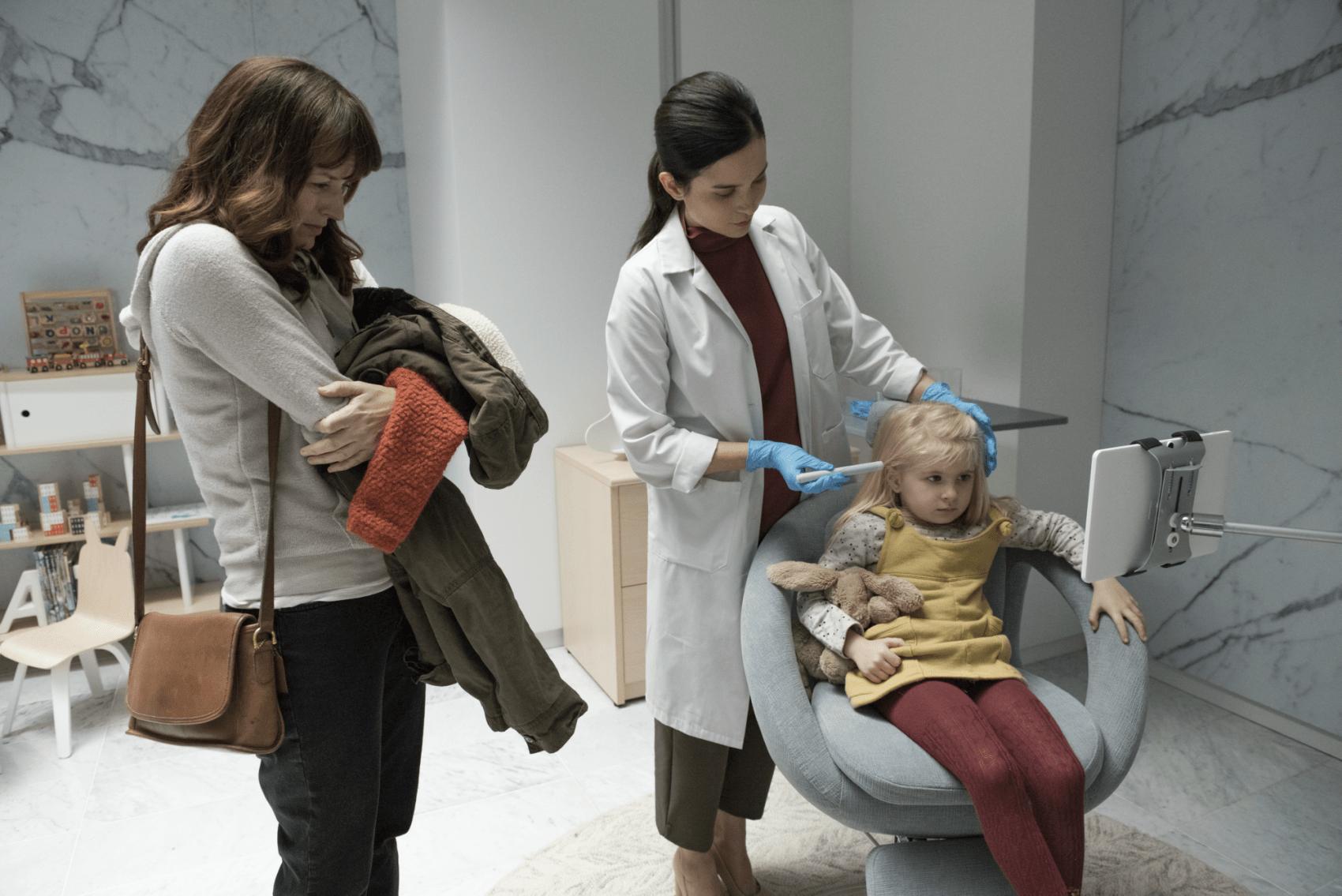 """A scene from """"Black Mirror,"""" Season 4's """"Arkangel."""" (Courtesy Netflix)"""