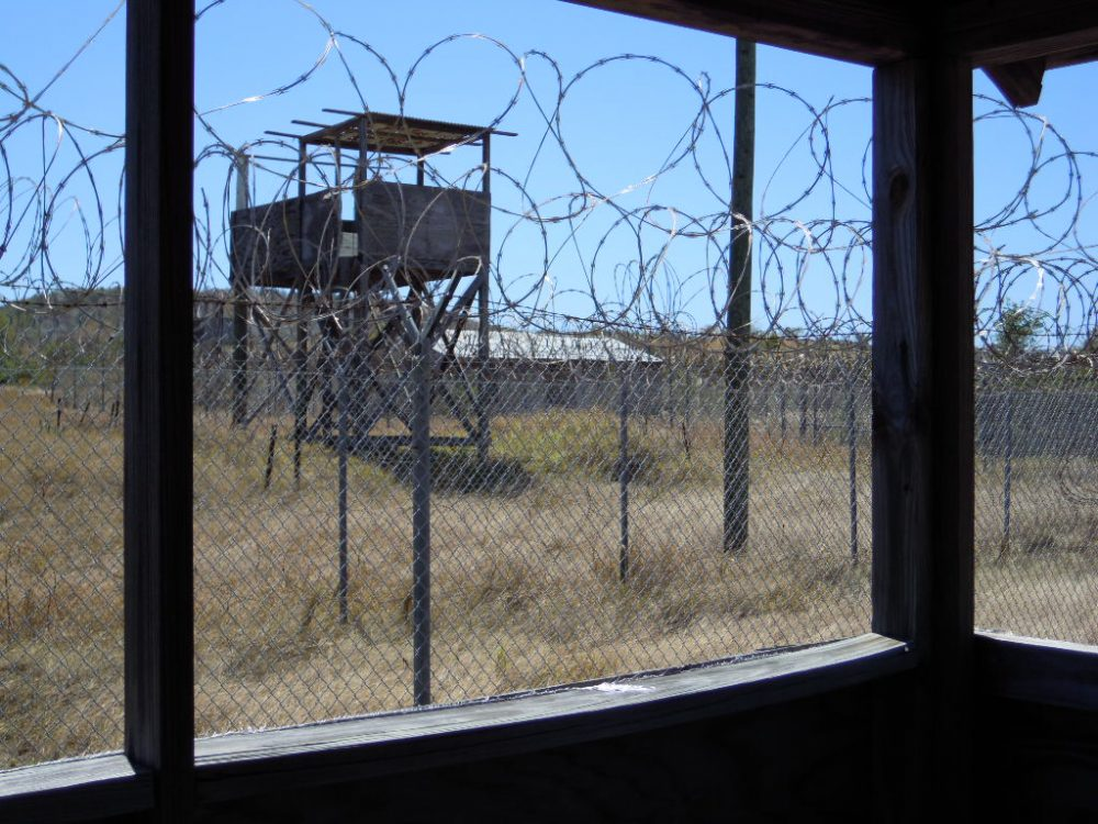 The ruins of Camp X-Ray, the first detention site for prisoners at Guantanamo after 9/11. Guantanamo Bay, Cuba, 2015. (Courtesy Andrea Pitzer)