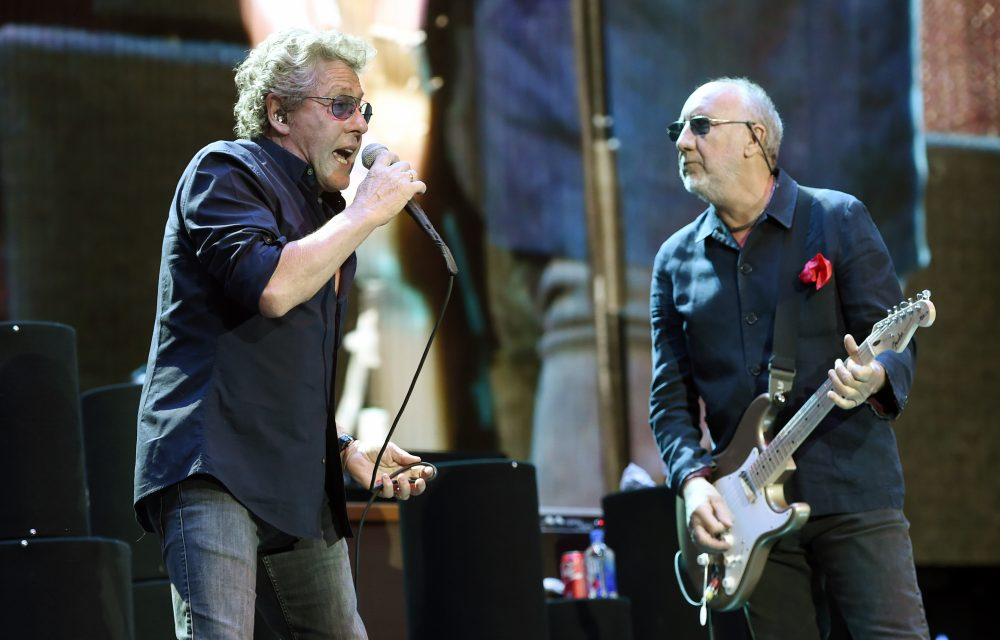 Roger Daltrey, left, and Pete Townshend of The Who perform at the 2016 Desert Trip music festival in Indio, California. (Chris Pizzello/Invision/AP)