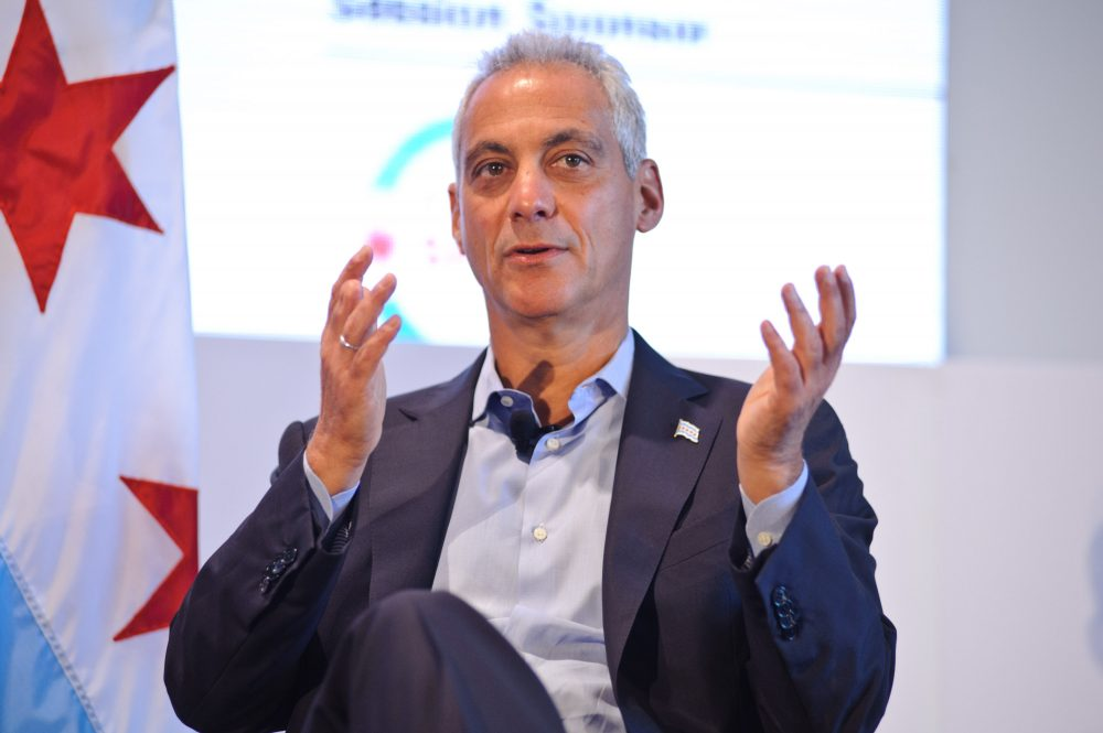 Chicago Mayor Rahm Emanuel attends the Leaders Sport Performance Summit at Soldier Field on June 27, 2017 in Chicago. (Timothy Hiatt/Getty Images for Leaders)