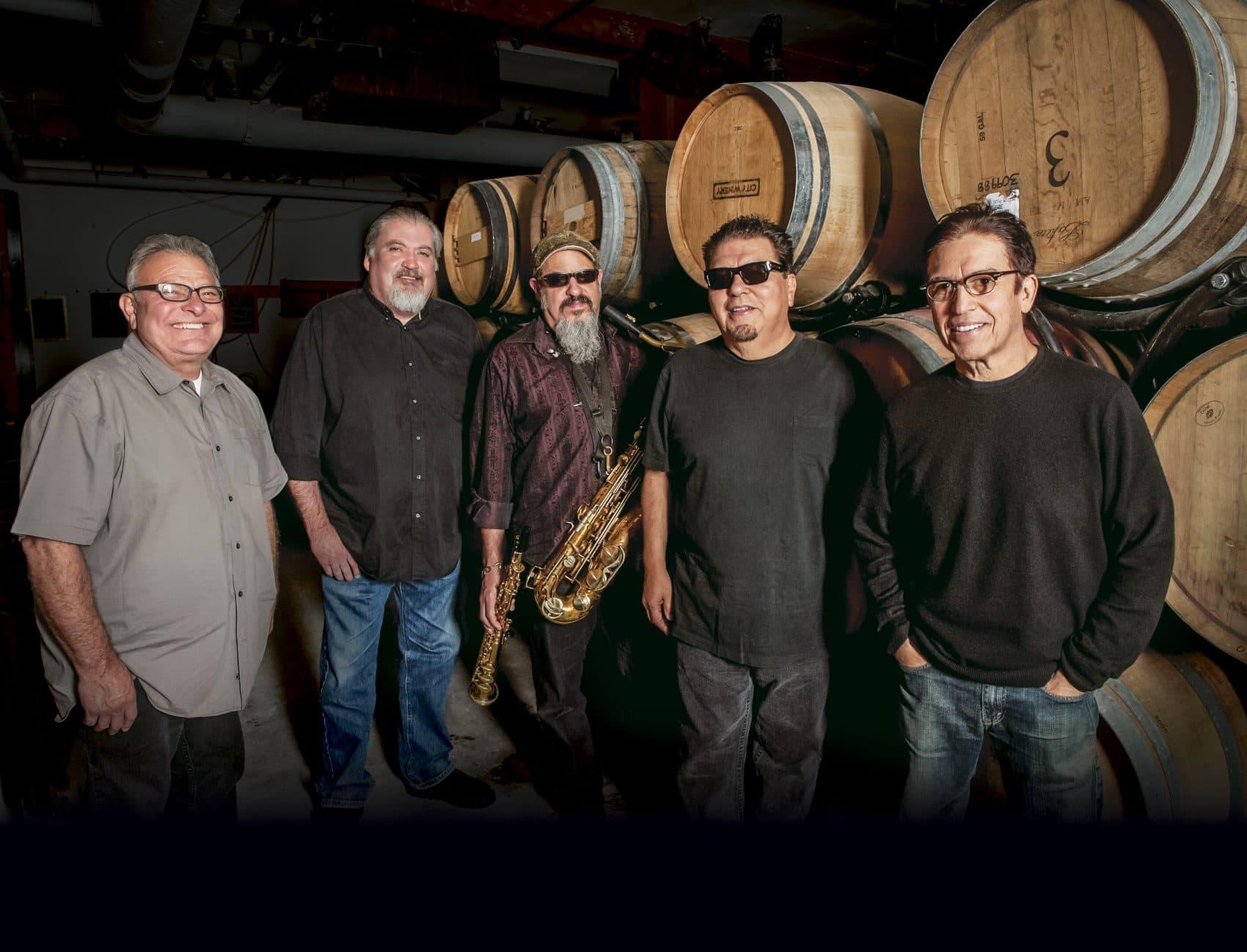 Los Lobos backstage at City Winery. (Courtesy City Winery)