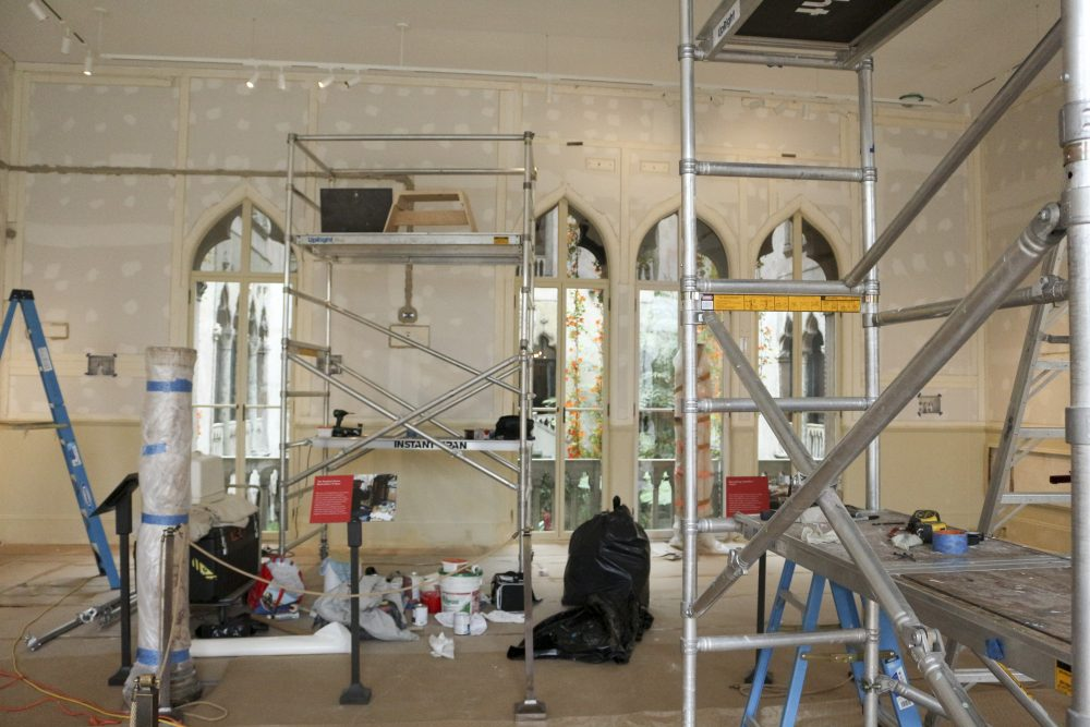 The Raphael Room during the restoration process. (Courtesy Isabella Stewart Gardner Museum)