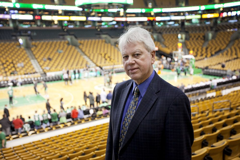 Globe sportswriter Bob Ryan is photographed at the TD Garden in Boston, MA on Wednesday, March 2, 2011. (Yoon S. Byun/Globe Staff)