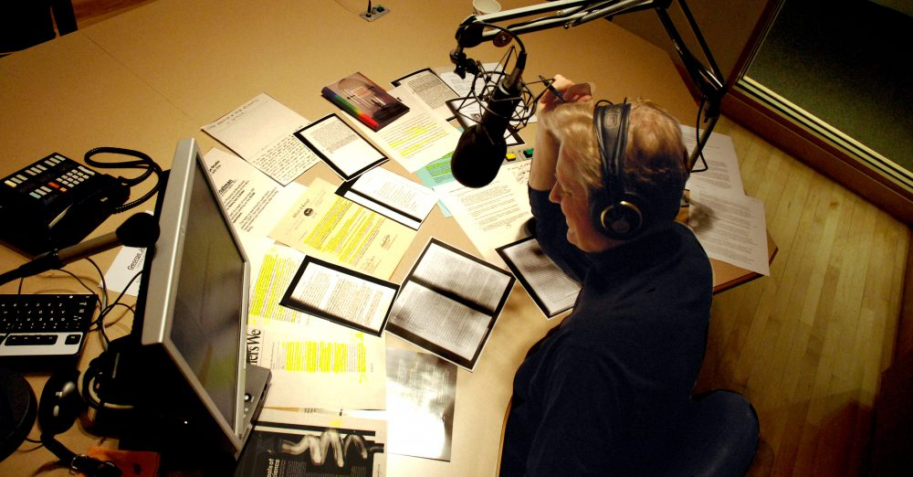 Tom Ashbrook in studio (WBUR file photo)