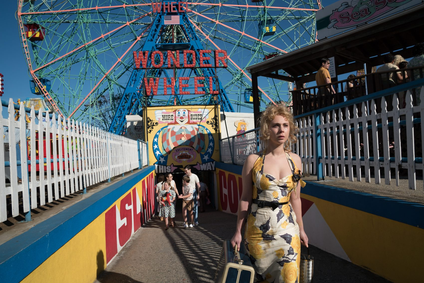 "Juno Temple in ""Wonder Wheel."" (Courtesy Jessica Miglio/Amazon Studios)"