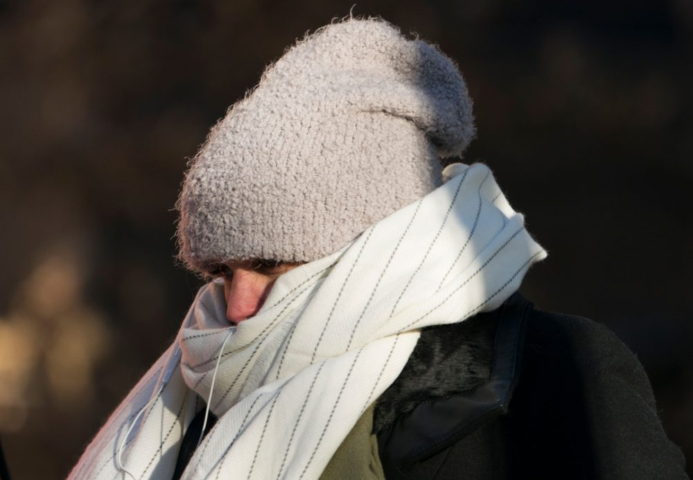 A woman walks down 50th Street bundled against the cold on Dec. 28, 2017 in New York, as a bitter Arctic chill settled across much of the United States and Canada. (Don Emmert/AFP/Getty Images)