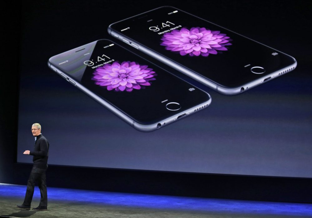 In this March 9, 2015, file photo, Apple CEO Tim Cook talks about the iPhone 6 and iPhone 6 Plus during an Apple event in San Francisco. Apple is apologizing for secretly slowing down older iPhones, which it says was necessary to avoid unexpected shutdowns related to battery fatigue. The company issued the statement on its website Thursday, Dec. 28, 2017. (Eric Risberg/AP)