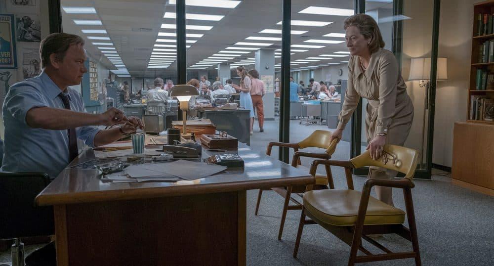 "Tom Hanks as Ben Bradlee and Meryl Streep as Katharine Graham in ""The Post."" (Courtesy 20th Century Fox)"