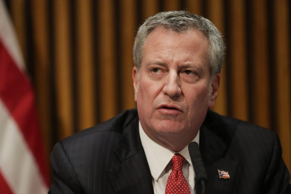 New York City Mayor Bill de Blasio speaks during a press conference on Nov. 3, 2017 in New York City. (Eduardo Munoz Alvarez/Getty Images)